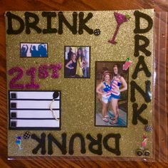 21st shot book page ideas.