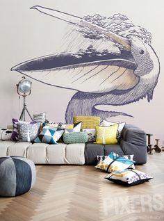 Wall Mural Pelican wall mural • Inspirations • PIXERSIZE.com