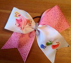 cheer bow  cheerbow  cheer  cheer leader disney bow by Bellabows76, $12.00