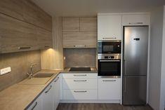 Simple Kitchen Design, Kitchen Room Design, Kitchen Cabinet Design, Kitchen Layout, Interior Design Kitchen, Diy Kitchen, Kitchen Decor, Kitchen Ideas New House, Small Space Interior Design
