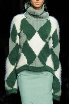 green cozy sweater
