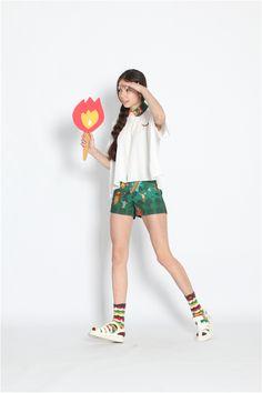 TYAKASHA така Ша Весна 2014 приключения серии: женские модели леса цифровые шорты печати - Taobao
