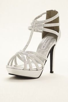 63d59cb6b Metallic Toni T-Strap Cage Platform Wedding   Bridesmaid Sandal by Touch  Ups - Silver