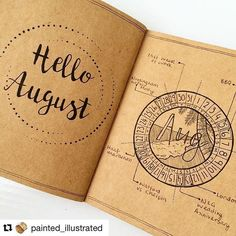 I always have my eyes peeled for unique takes on the traditional journal.m and I definitely found one. @painted_illustrated created this gorgeous #calendarwheel on one side. And a beautiful #August #header on the other. Did you see those dots around Augu
