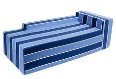 Chaise, Stripe Blue on OneKingsLane.com