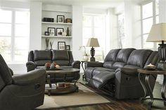 Niarobi Contemporary Gray Polyester Living Room Set