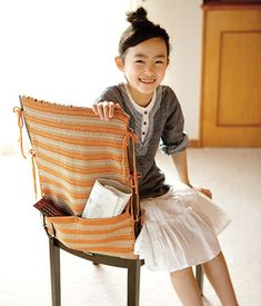 Ravelry: Chair Cover with Pocket pattern by Pierrot (Gosyo Co., Ltd)