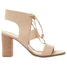 Mint Velvet Kara Lace Up Block Heeled Sandals , Natural (9.285 RUB) ❤ liked on Polyvore featuring shoes, sandals, natural, strappy high heel sandals, block heel sandals, low heel sandals, flat sandals and leather sandals