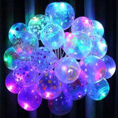 Light Balloons Birthday Party Wedding Decor Decoration Baby Kids Toys - New Site Neon Birthday, Christmas Birthday Party, Birthday Balloons, Birthday Parties, 16th Birthday, Women Birthday, Light Up Balloons, Led Balloons, Balloon Arch