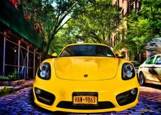 Bright yellow Porsche sportscar on the streets of the West Village Ne  Bright yellow Porsche sportscar on the streets of the West Village Ne Gallery quality print on thick 45cm / 32cm metal plate. Each Displate print verified by the Production Master. Signature and hologram added to the back of each plate for added authenticity & collectors value. Magnetic mounting system included.  EUR 51.00  Meer informatie