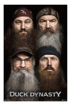 Duck Dynasty Beards Poster | Hot Topic Quack Quack, Duck Commander, Season 2, Duck Season, Movies And Tv Shows, Favorite Tv Shows, Robertson Family, Sadie Robertson, Duck Dynasty Family