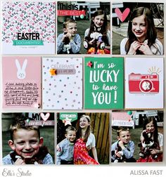 Easter Documented by Alissa Fast for Elle's Studio - Project Life Pocket Pages