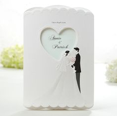 Foil Tuxedo Dress Mint Wedding Invitations – GA 9152 | ItsInvitation