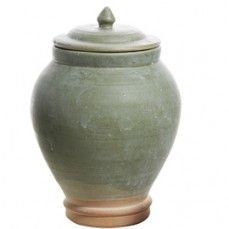 Terra Cotta Jar White Washed Jade - Large    $30.00 @ www.antiquefarmho...