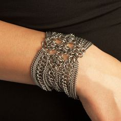 Rapt In Maille | Handmade Chainmaille Jewelry by Melissa Banks | Stainless Steel | Chicago — METAL Gothic Rosette Bracelet