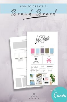 A how to for easily creating a brand style board and take your business from unnoticed to unforgettable!Grab the FREE brand style board template designed to edit with Canva. how to build a website Branding Your Business, Personal Branding, Business Tips, Business Meme, Business Coaching, Business Quotes, Web Design, Logo Design, Design Ideas