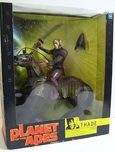 Planet of the Apes figures, Thade with his Battle Steed. Perfect if you like horses or apes, or apes on horses - or the awesome Planet of the Apes movie. Buy it on AMAZON for £24.99 (new, boxed)
