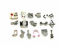 Hobbies and Music Floating Charm for by MyStonebridgeDesigns, $4.00