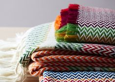 Oslo designerAndreas Engesvik has created a series of blankets inspired by the textiles of Norwegian folk costumes
