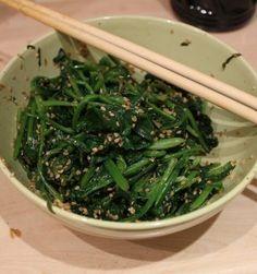 Namure de Espinacas - Recetas de Corea