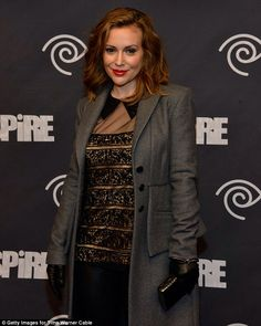 CAA/TWC party 01/31/14 blouse: Tadashi Shoji, pants: Vince, shoes Jimmy Choo, ring: Amanda Marmer, coat: Marissa Webb
