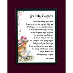 Poems To A Daughter