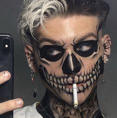 Punk Makeup, Edgy Makeup, Grunge Makeup, Eye Makeup Art, Skull Makeup, Crazy Makeup, Pretty Makeup, Beauty Makeup, Horror Makeup