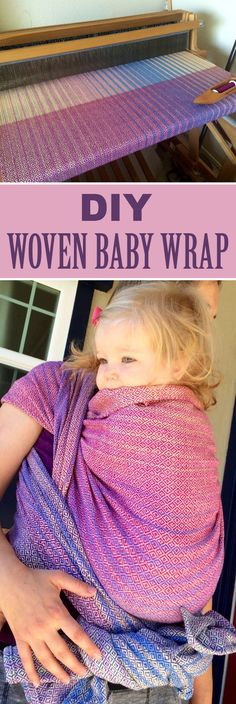 Ever wondered how to weave at home? This is an absolutely gorgeous DIY woven baby wrap.
