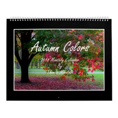 Autumn Colors 2018 Monthly Calendar - photography gifts diy custom unique special