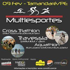 Vem aí mais um grande evento de multiesportes e a #MegaVitaminas estará presente! #CrossTriathlon #Travessia #Aquathlon #FEPETri @Corre10