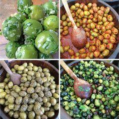 aceitunas-alinadas-de-mesa Spanish Kitchen, Marinated Olives, Olive Salad, Salad Recipes, Healthy Recipes, Recipe Images, Canapes, Diy Food, Tapas