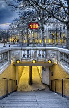 Metro des Champs Elysees, Paris France