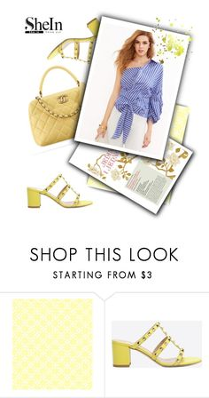 """""""Yellow and Blue"""" by streetglamour ❤ liked on Polyvore featuring Chanel and Valentino"""