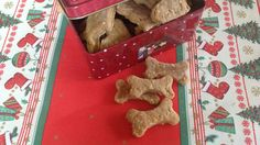 Tiffy is baking fresh dog cookies for Goldie, using peanut butter