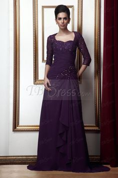 Tbdress.com offers high quality Fantastic Lace Beading Column Sweetheart Floor-Length Mother of the Bride Dress Vintage Mother Dresses unit price of $ 135.39.