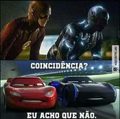 "btw this means, ""coincidence, i don't think so"" Dankest Memes, Jokes, The Flash Grant Gustin, Superhero Memes, Supergirl And Flash, Marvel, I Love To Laugh, Coincidences, Funny Images"