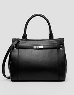 Tote with belt fastening. - Bags and backpacks Wardrobe Basics, Black Tote Bag, Backpacks, Belt, Stuff To Buy, Shopping, United Kingdom, Women, France