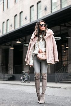 Tweet   Happy Monday everyone! Winter is real here in NYC and the cold is no joke (coming from a west coast girl). I have a black shearling jacket and it's a life saver! Adding more thick pieces to my