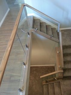 Another round from our friends at Denver Glass Interiors - a wind screen clamp stair job using our E2000100 ground anchorage glass clamps.