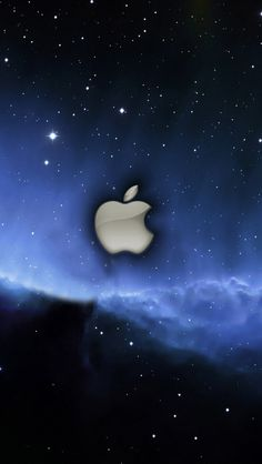 Apple blue stars space iPhone 5 (5S) (5C) wallpaper - 640x1136