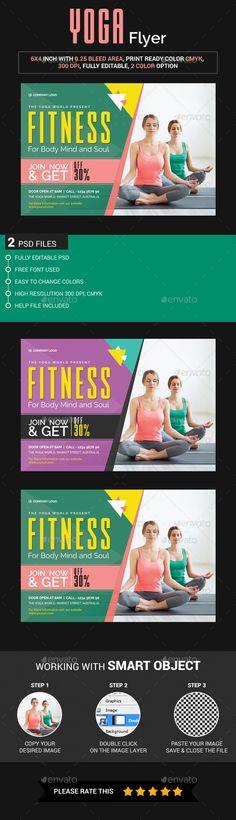 Yoga Flyer Template Flyer template, Yoga and Brochures - yoga flyer