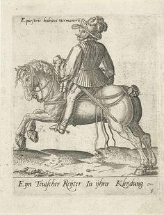 Duitse ruiter, Abraham de Bruyn, 1577