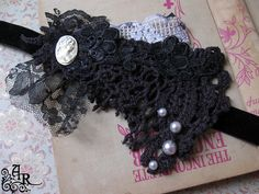The Dollie Collection... Black Lace Neo Victorian by artefactredux, $66.00