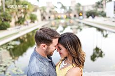 Classic engagement photo at Balboa Park in San Diego!    Melissa McClure Photography San Diego and Destination Wedding Blog » Balboa Park & Pacific Beach Engagement