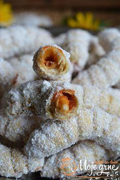 Sweet Desserts, Sweet Recipes, Cake Recipes, Dessert Recipes, Bosnian Recipes, Croatian Recipes, Posne Torte, Macedonian Food, Kolaci I Torte