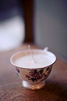 Teacup Candle so cute!