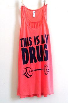 Large Coral / Orange / Pink This is my drug by FittdBrandClothing, $22.00