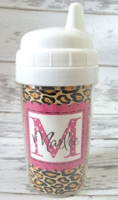 Personalized Sassy Leopard Toddler Spill by monkeyseeboutique, $12.00