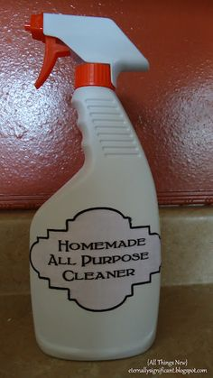 DIY: Homemade All Purpose Cleaner. Can easily be made with a few ingredients!