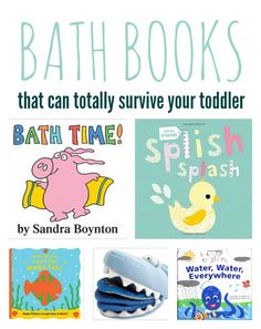 5 fun books that your child can read in the bath.